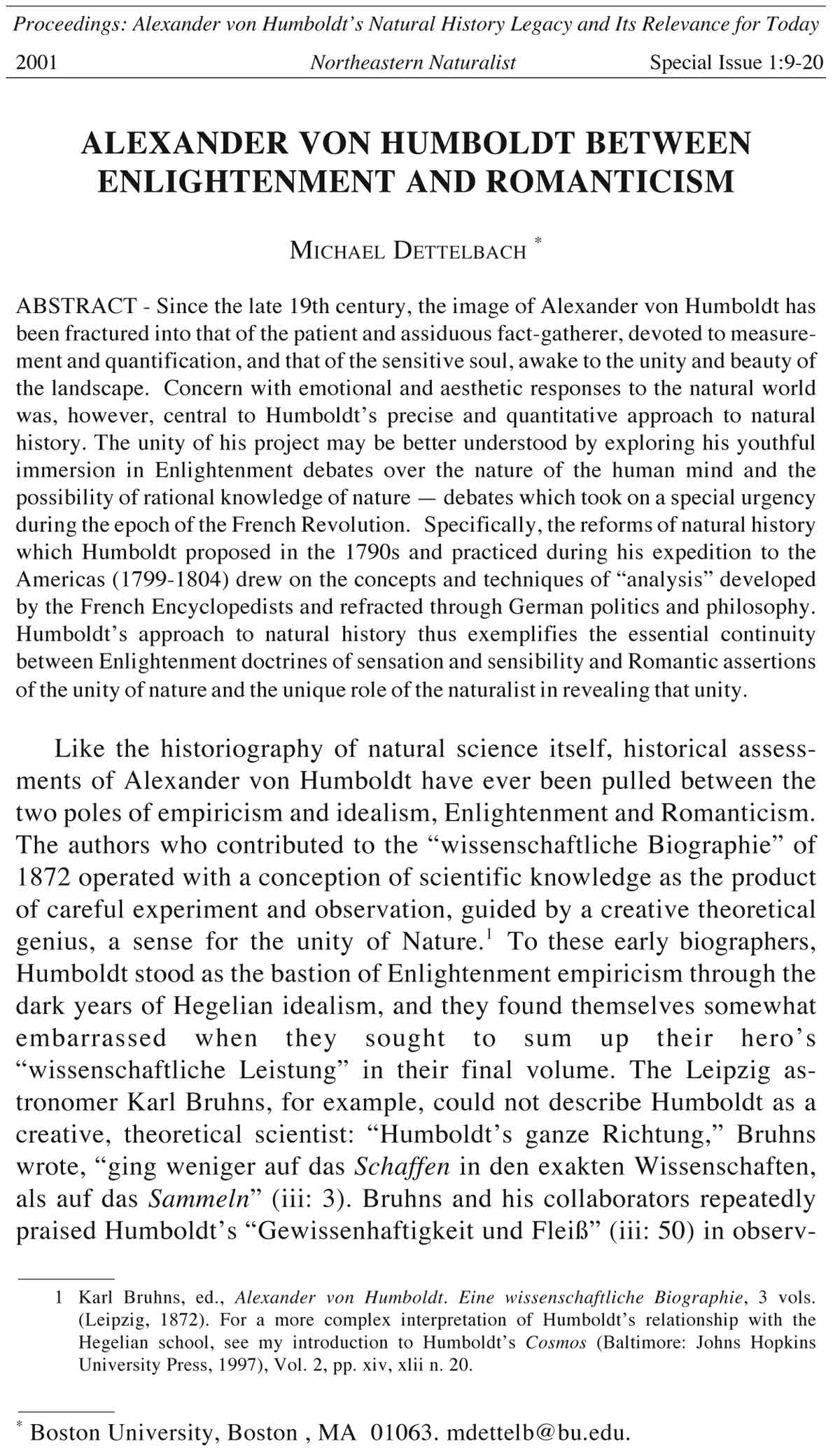 Northeastern Naturalist, Volume 8, Special Issue 1 (2001): 9–20